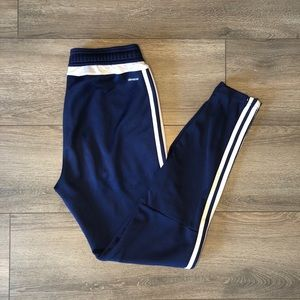 Adidas tiro training pants in dark blue